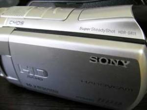 HDR-SR11 ソニー E:31:00と表示されるビデオカメラのデータ復元