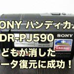 SONY HDR-PJ590 データ復旧