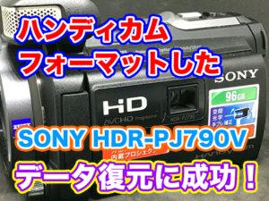 【内蔵メモリをフォーマットした】SONYハンディカムHDR-PJ790V